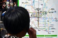 墨尔本电车轨道网络 免版税图库摄影
