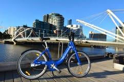墨尔本自行车份额 库存图片