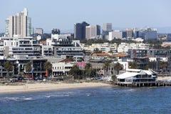 墨尔本郊区海滩 免版税图库摄影