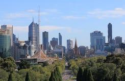 墨尔本都市风景澳大利亚 免版税库存照片