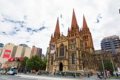 墨尔本,澳大利亚- 2015年3月16日:圣保罗的大教堂 免版税库存照片