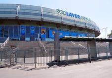 Rod Laver Arena在澳大利亚网球中心在墨尔本,澳洲。 免版税库存图片