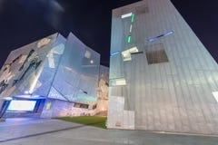 墨尔本- 2015年10月:在联盟正方形的城市建筑学 免版税库存照片