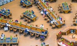 墨尔本- 2015年10月:在1854年建立,州立图书馆 免版税库存照片