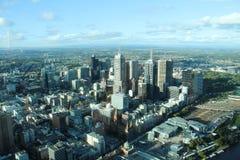 墨尔本Arial视图从Skydeck 88,澳大利亚的 免版税图库摄影