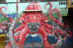 墨尔本Grafittis 库存图片