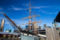 墨尔本Polly伍德赛德小船 库存图片