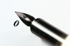 墨水笔作家 免版税图库摄影