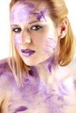 墨水纵向紫色 免版税图库摄影
