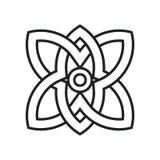 墨水象在白色背景和标志隔绝的传染媒介标志, 库存例证