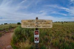 墨菲Trailhead在天空的海岛 免版税库存图片