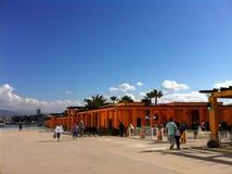 墨西哥与蓝天的安全大厦 免版税库存照片