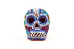墨西哥人制作多色头骨 库存照片