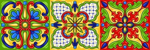 墨西哥人塔拉韦拉陶瓷砖样式 库存例证