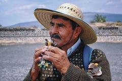墨西哥人民在特奥蒂瓦坎 免版税库存图片