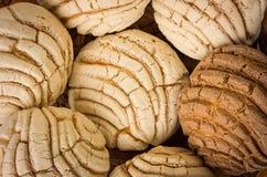 墨西哥人Conchas甜点面包 免版税库存图片