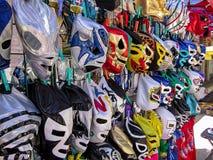 墨西哥人Luchador面具待售 图库摄影