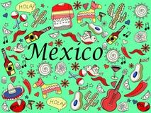 墨西哥传染媒介例证 库存照片