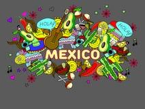 墨西哥传染媒介例证 免版税图库摄影