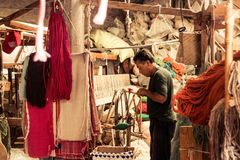墨西哥传统缝合的工厂 库存图片
