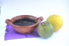 墨西哥传统黑美洲热带树甜点做用橙汁 库存照片