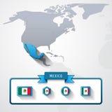 墨西哥信息卡片 向量例证
