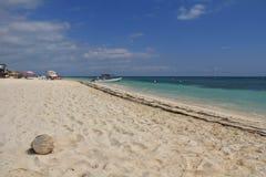 墨西哥加勒比海滩 免版税图库摄影