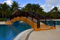 墨西哥和在加勒比海滩附近放松 库存图片