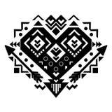 墨西哥和阿兹台克部族装饰品 向量 库存照片