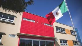 墨西哥国旗爱国标志;班德拉de MA©xicoo simbolo patrio de esta nacià ³ n 库存照片