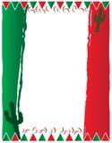 墨西哥国旗背景 库存图片
