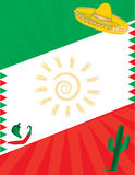 墨西哥国旗背景 库存照片