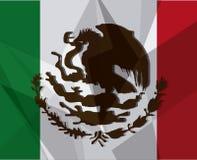 墨西哥在平的设计样式,传染媒介例证的文化象 免版税库存图片