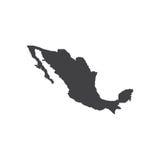 墨西哥地图剪影例证 免版税库存图片