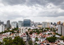 墨西哥城全景-波朗科 免版税库存照片