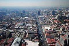 墨西哥城全景  免版税库存照片