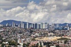 墨西哥城圣塔菲区鸟瞰图  图库摄影
