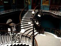 墨西哥城地质博物馆的台阶细节  免版税库存图片