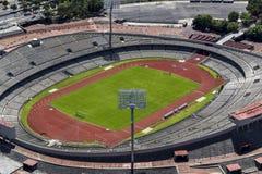 墨西哥城大学奥林匹克体育场鸟瞰图  图库摄影