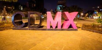 墨西哥城标志 库存照片