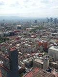 墨西哥城看法春天下午的 免版税库存照片