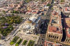 墨西哥城鸟瞰图 免版税库存照片