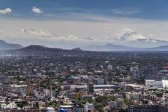 墨西哥城鸟瞰图 库存照片