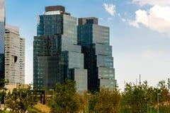 墨西哥城,圣菲现代大厦 免版税库存照片