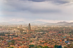 墨西哥城,墨西哥美好的顶视图  免版税库存照片