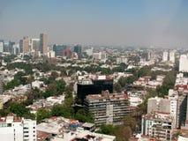 墨西哥城,墨西哥鸟瞰图  免版税库存照片