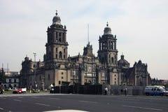 墨西哥城,墨西哥- 2015年11月24日:墨西哥城大城市大教堂(Catedral Metropolitana de la亚松森de玛丽亚) 图库摄影
