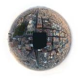 墨西哥城,墨西哥- 2011年:街市墨西哥城空中白点视图  库存图片