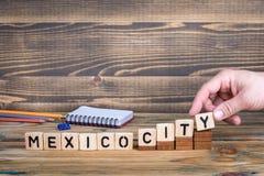 墨西哥城,许多数百万人居住的一个城市在墨西哥 库存图片