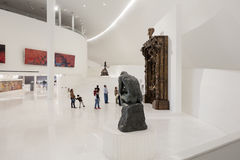 墨西哥城- 2016年11月1日:Soumaya博物馆Museo Sou内部  免版税库存图片